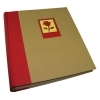 Dorr Green Earth Red Flower Traditional Photo Album - 100 Sides