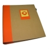 Dorr Green Earth Orange Sun Traditional Photo Album - 100 Sides