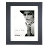 Dorr Bloc Black 16x12 inches Wood Photo Frame with 12x8 inch insert