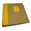 Dorr Green Earth Yellow Flower Traditional Photo Album with 100 Sides